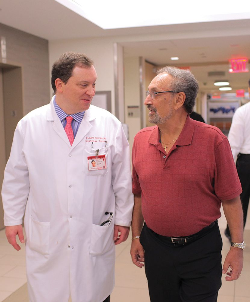 Dr. Richard Furman and patient Bob Azopardi