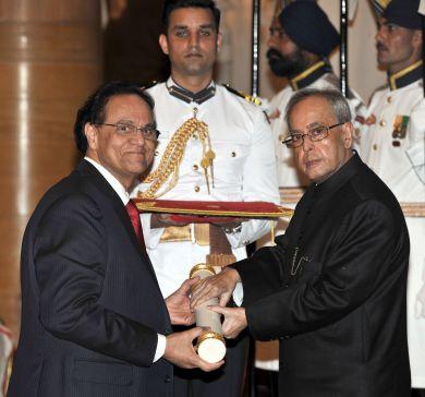 Dattatreyudu Nori Dattatreyudu Nori awarded one of India39s highest civil