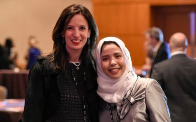 Khaoula Mazouzi, M.D., with her IDEA mentor Eleni Andreopoulou, M.D.