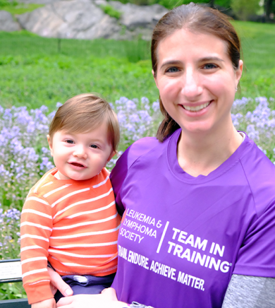 Lisa Roth, M.D., with her young son