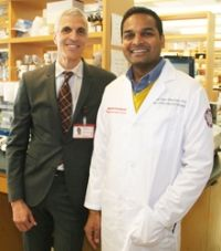 Mark M. Souweidane, MD, and CBTP researcher Uday Maachani, PhD, are two of the co-authors on the new paper describing biomarkers for DIPG.
