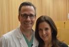Thoracic surgeon Brendon Stiles with patient MaryAnn Provenzano