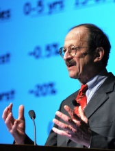 Photo of Dr. Harold Varmus speaking