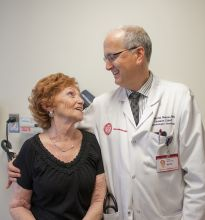 Bladder cancer survivor Irene Price and Dr. David Nanus