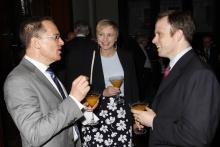 Photo of Mark Rubin and Chris Mason at awards dinner