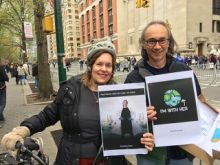 Lorraine Gudas and John Blenis at the NYC March for Science