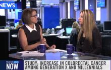Dr. Felice Schnoll-Sussman with Katie Couric discussing colon cancer