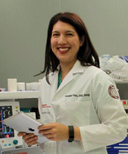 Heather Yeo, M.D. at work at Weill Cornell Medicine