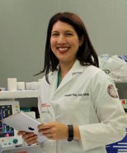 Heather Yeo, M.D. at work at Weill Cornell Medicine