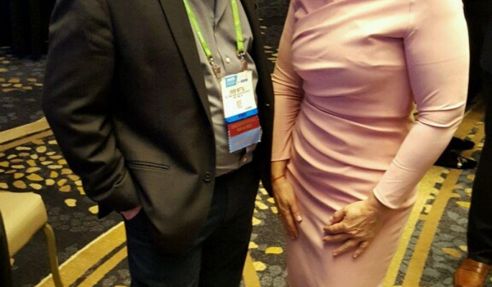 Vivek Mittal with Fran Drescher
