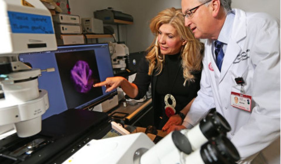 Evi Giannakakou, PhD (left), and David Nanus, MD